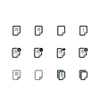 Notepad Document file and Note duotone icons vector image vector image