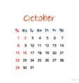 october 2017 vector image vector image