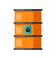 oil iron barrel vector image
