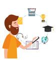 online education cartoon vector image vector image