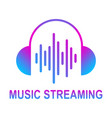 online media streaming music audio wave vector image