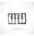 piano keys grunge icon vector image vector image