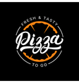 Pizza hand written lettering logo label badge
