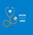 realistic detailed 3d stethoscope and medicine vector image vector image