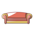 red sofa icon cartoon style vector image vector image