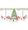 restaurant decorated for merry christmas and happy vector image vector image