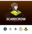 Scarecrow icon in different style vector image vector image