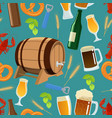 seamless pattern of beer vector image vector image