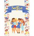 selfie girl beautiful woman character vector image vector image