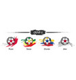 set of football or soccer national team group h vector image