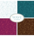 Set of Seamless Waves Patterns vector image vector image