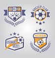 soccer isolated emblems or logos part 3 vector image vector image