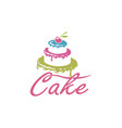 sweet cake design vector image