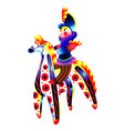 the rider on a horse dymkovo toy vector image vector image