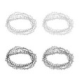 thorn wreath or barbed wire icon outline set grey vector image vector image