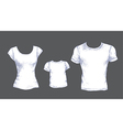 tshirts white vector image