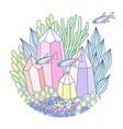 underwater emblem vector image