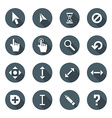 white color flat style various solid cursors icons vector image vector image