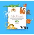 wildlife background zoo animals banner vector image