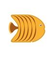 yellow butterfly fish aquarium vector image vector image