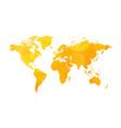 yellow world map sun theme vector image vector image