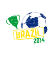 Brazil 2014 stamp vector image
