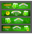 Set with banners for celebration St Patricks Day vector image