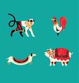 12 Chinese horoscope Zodiac part C vector image