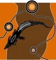 Aboriginal art background vector image vector image