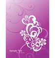Abstract floral art vector image vector image
