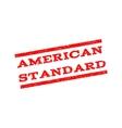 American Standard Watermark Stamp vector image vector image
