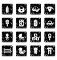 baby born icons set grunge vector image vector image