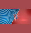 banner with an explosive manifestation of vector image