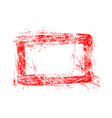 blank red rectangular grunge rubber stamp vector image vector image