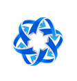 blue arrow direction recycle business logo vector image vector image