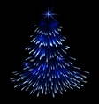 Blue spruce fir christmas trace fireworks vector image vector image