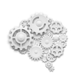Brain made of gears vector image