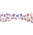 butterflies banner flying beautiful spring and vector image