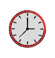 cartoon clock time watch work icon vector image vector image