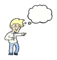 cartoon funny office man pointing with thought vector image vector image