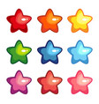 cartoon shiny stars vector image vector image