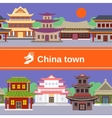 China town tileable border vector image vector image