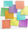 colorful sticky notes busy concept editable vector image vector image