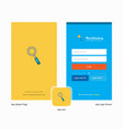 company search splash screen and login page vector image vector image