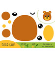 education paper game for children bear vector image vector image