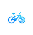 electric bicycle icon e-bike isolated on white vector image vector image