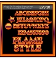 Flame Work Graphic Style vector image