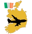 fly me to the Ireland vector image vector image