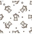 Geyser coffee maker pattern vector image