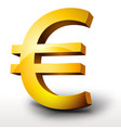 gold euro currency vector image vector image